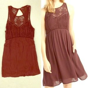 Abercrombie & Fitch Sleeveless Dress in Burgundy